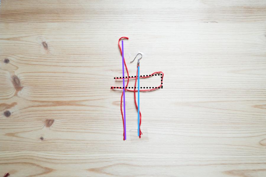 DIY-Fabriquer- boucles-oreilles-plume-tuto-simple-facile-rapide-macrame-fil-broder-lea-pilea-blog-16