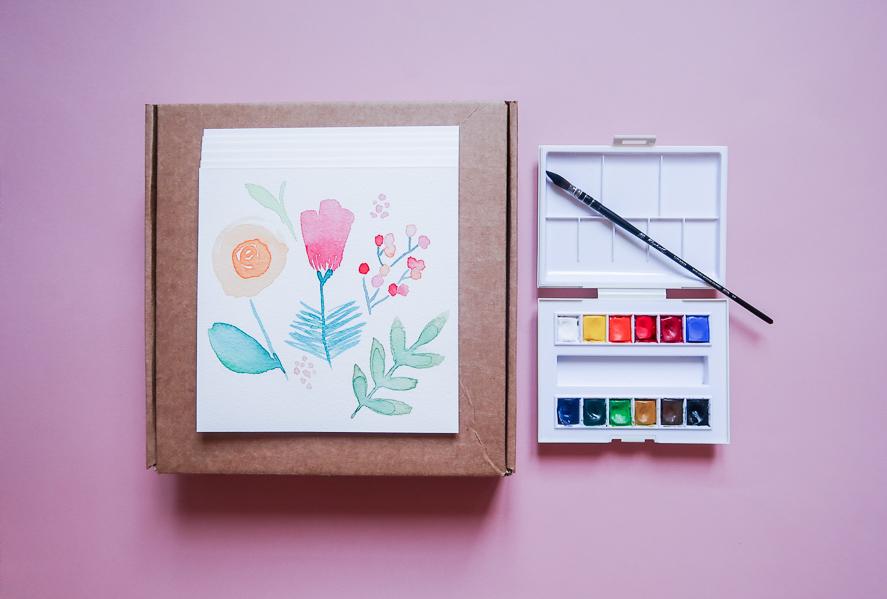 Mon-materiel-peinture-debutant-debuter-aquarelle-palette-pinceau-papier-facile-pas-cher-que-choisir-sennelier-canson-en-ligne-de-voyage-raphael-lavis-indispensable-lea-pilea-blog-03