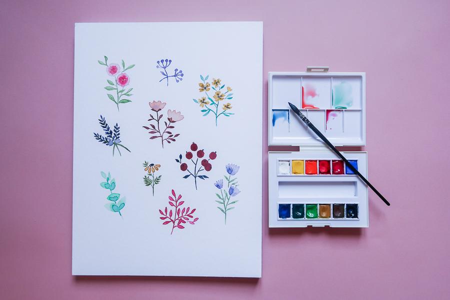 Mon-materiel-peinture-debutant-debuter-aquarelle-palette-pinceau-papier-facile-pas-cher-que-choisir-sennelier-canson-en-ligne-de-voyage-raphael-lavis-indispensable-lea-pilea-blog-06